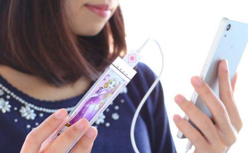 ディズニーキャラクター/コスメティック スティックバッテリー モバイル充電器